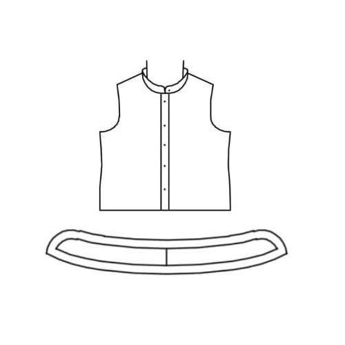 الگوی چاپ شده یقه فرنچ