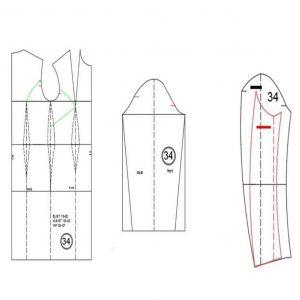 الگوی چاپ شده مانتو همه کاره با سه پنس اصلی