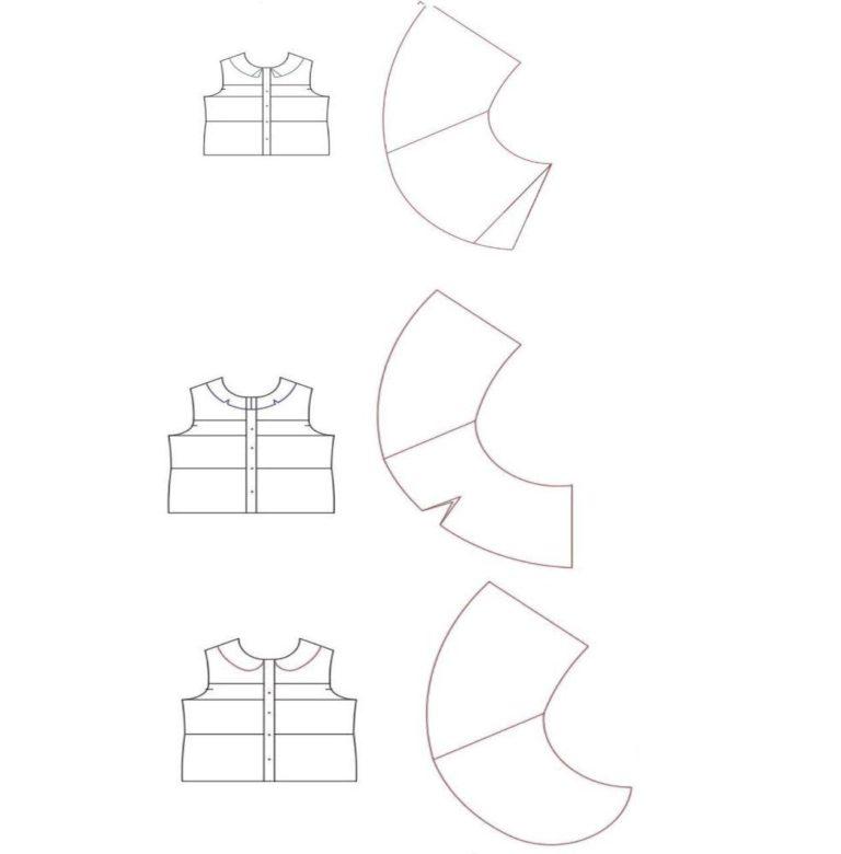 الگوی چاپ شده یقه ب ب